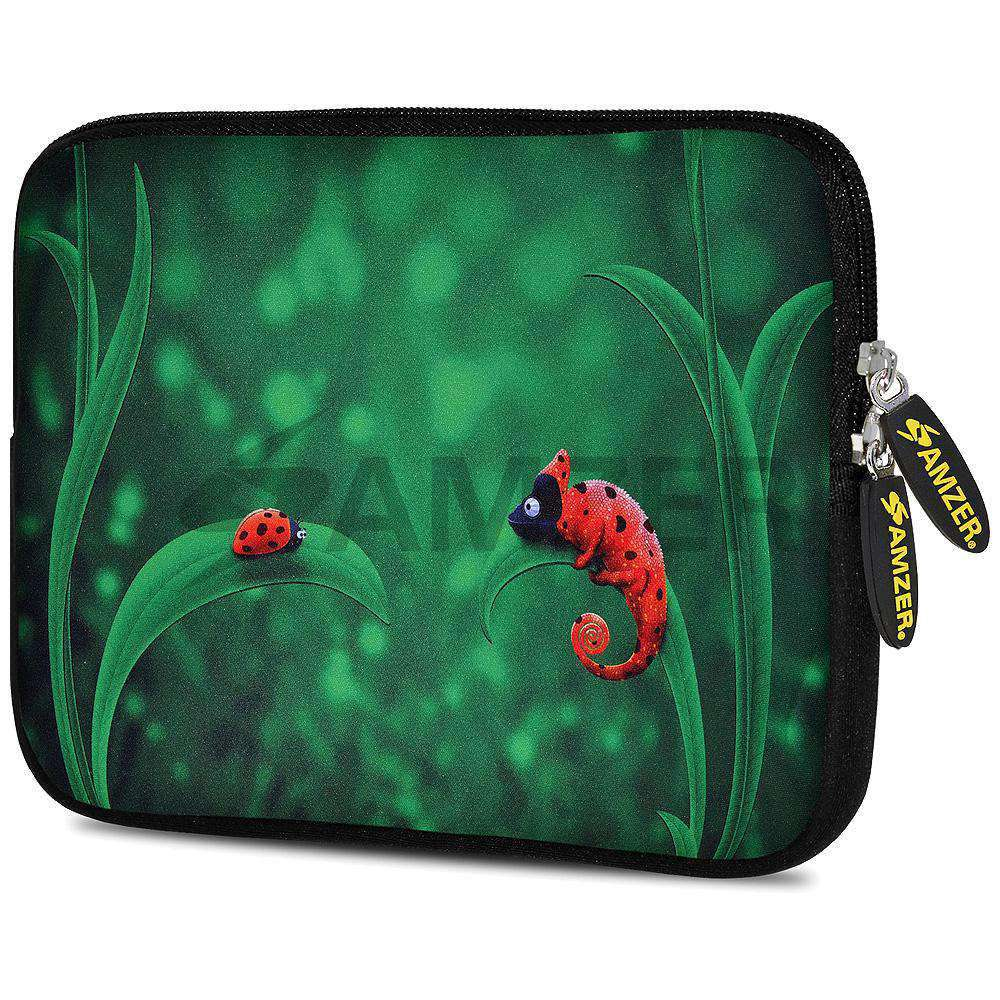 AMZER 10.5 Inch Neoprene Zipper Sleeve Pouch Tablet Bag - Green World - fommystore