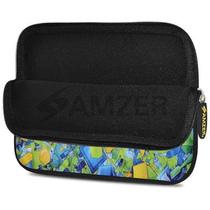 AMZER 7.75 Inch Neoprene Zipper Sleeve Pouch Tablet Bag - Yell Blue Classic - fommystore