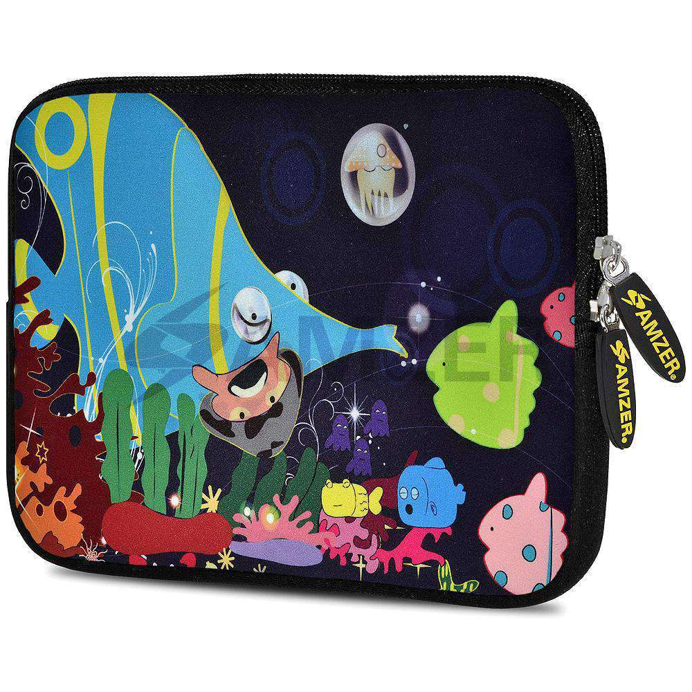 AMZER 10.5 Inch Neoprene Zipper Sleeve Pouch Tablet Bag - Sea Life - fommystore