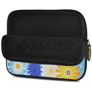 AMZER 7.75 Inch Neoprene Zipper Sleeve Pouch Tablet Bag - Rainbow Daisy - fommystore