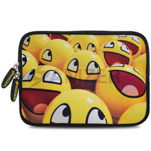 Load image into Gallery viewer, AMZER 7.75 Inch Neoprene Zipper Sleeve Pouch Tablet Bag - Smiley Lot - fommystore