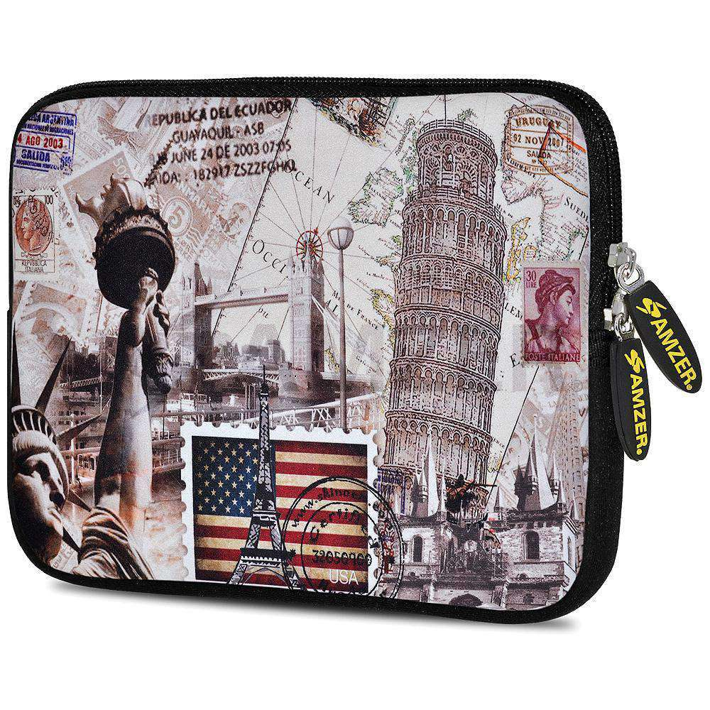 AMZER 7.75 Inch Neoprene Zipper Sleeve Pouch Tablet Bag - Travel Wonders - fommystore