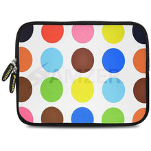 Load image into Gallery viewer, AMZER 10.5 Inch Neoprene Zipper Sleeve Pouch Tablet Bag - Colour Circles - fommystore