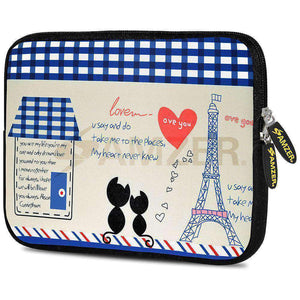 AMZER 10.5 Inch Neoprene Zipper Sleeve Pouch Tablet Bag - Parisian Date - fommystore