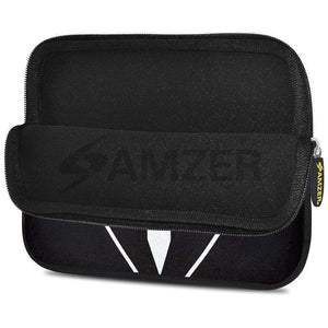 AMZER 7.75 Inch Neoprene Zipper Sleeve Pouch Tablet Bag - Tux Red Bow - fommystore