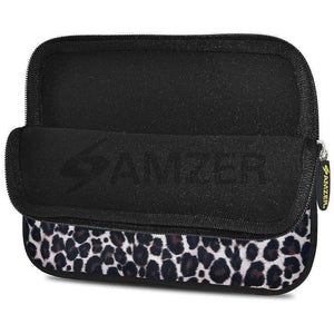 AMZER 10.5 Inch Neoprene Zipper Sleeve Pouch Tablet Bag - Green Cat Eyes - fommystore