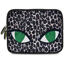 Load image into Gallery viewer, AMZER 10.5 Inch Neoprene Zipper Sleeve Pouch Tablet Bag - Green Cat Eyes - fommystore