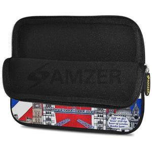 AMZER 10.5 Inch Neoprene Zipper Sleeve Pouch Tablet Bag - London Flag - fommystore