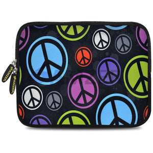 AMZER 10.5 Inch Neoprene Zipper Sleeve Pouch Tablet Bag - Neon Peace Force - fommystore