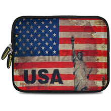 Load image into Gallery viewer, AMZER 7.75 Inch Neoprene Zipper Sleeve Pouch Tablet Bag - Rustic Liberty US Flag - fommystore