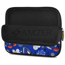 Load image into Gallery viewer, AMZER 7.75 Inch Neoprene Zipper Sleeve Pouch Tablet Bag - Blue Bloom Dragonfly - fommystore