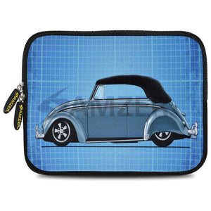 AMZER 10.5 Inch Neoprene Zipper Sleeve Pouch Tablet Bag - Classic Beetle Grid - fommystore