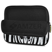 Load image into Gallery viewer, AMZER 7.75 Inch Neoprene Zipper Sleeve Pouch Tablet Bag - Cute Zebra Rose - fommystore