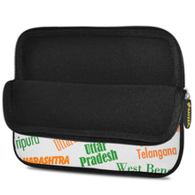 Load image into Gallery viewer, AMZER 10.5 Inch Neoprene Zipper Sleeve Tablet Pouch - Indian States Tricolour - fommystore