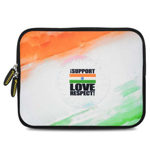 Load image into Gallery viewer, AMZER 10.5 Inch Neoprene Zipper Sleeve Tablet Pouch - India Support Love Respect - fommystore