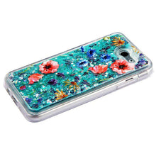 Load image into Gallery viewer, AMZER Quicksand Glitter Hybrid Protector Cover for Samsung Galaxy Amp Prime 2 SM-J120A - Flowers & Green Sparkle - fommystore