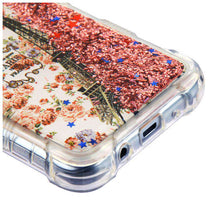 Load image into Gallery viewer, AMZER TUFFEN Quicksand Glitter Lite Hybrid Protector Cover for Samsung Galaxy J3 2018 - Paris & Rose Gold Flowing Sparkles - fommystore