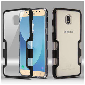 AMZER® TUFFEN Panoview Hybrid Protector Cover - Black/Clear for Samsung Galaxy J7 2018 - fommystore