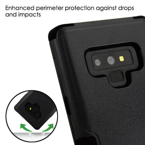 AMZER® TUFFEN Hybrid Phone Protector Cover - Black/Black for Samsung Galaxy Note9 - fommystore