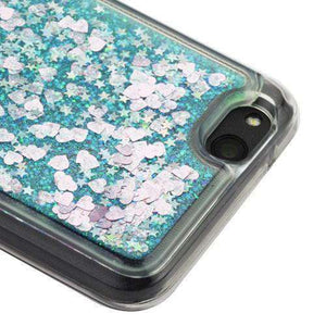 AMZER® Quicksand Glitter Hybrid Protector Cover - Green Hearts for ZTE Tempo X N9137 - fommystore