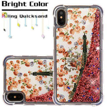 Load image into Gallery viewer, AMZER® TUFFEN Quicksand Glitter Lite Hybrid Protector Cover for iPhone Xs Max