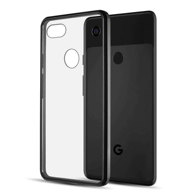 AMZER SlimGrip Bumper Hybrid Case for Google Pixel 3 - Black - fommystore