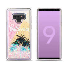 Load image into Gallery viewer, AMZER® Quicksand Glitter Hybrid Protector Cover - Cali Sunshine for Samsung Galaxy Note9 - fommystore