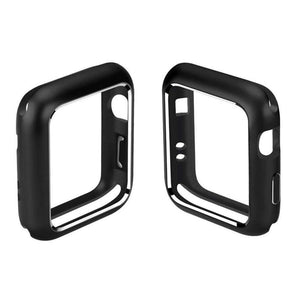 AMZER Armor Aluminum Magnetic Snap Case for Apple Watch Series 4 44mm - Black - fommystore