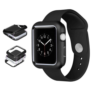 AMZER Armor Aluminum Magnetic Snap Case for Apple Watch Series 5 40mm - Black - fommystore