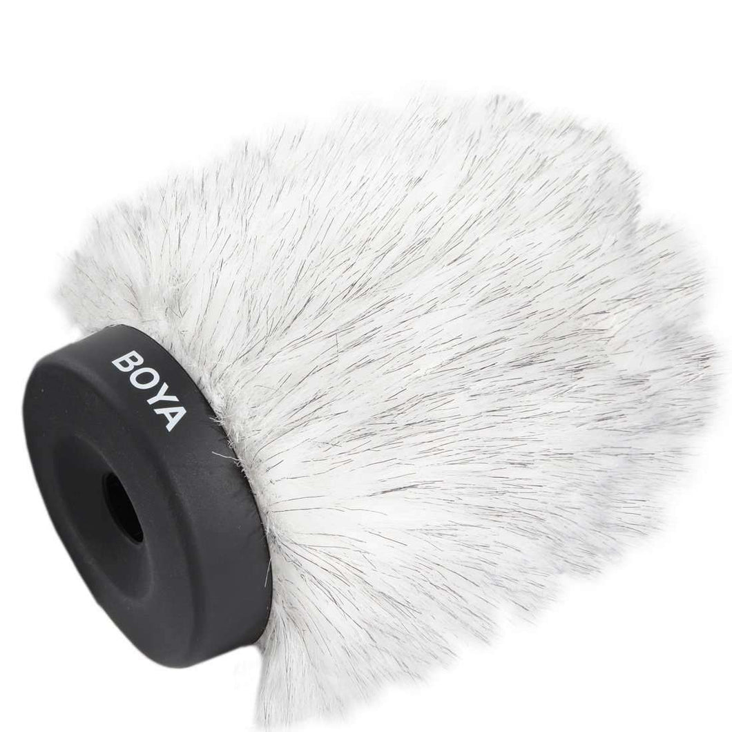 AMZER Furry Outdoor Interview Windshield Muff for Shotgun Capacitor Microphones - fommystore