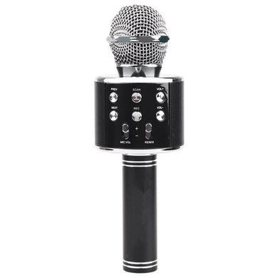 Metal High Sound Quality Handheld KTV Karaoke Recording Bluetooth Wireless Microphone, For Notebook, Tablet, PC, Speaker, Headphone and Smart Phones(Black) - fommystore