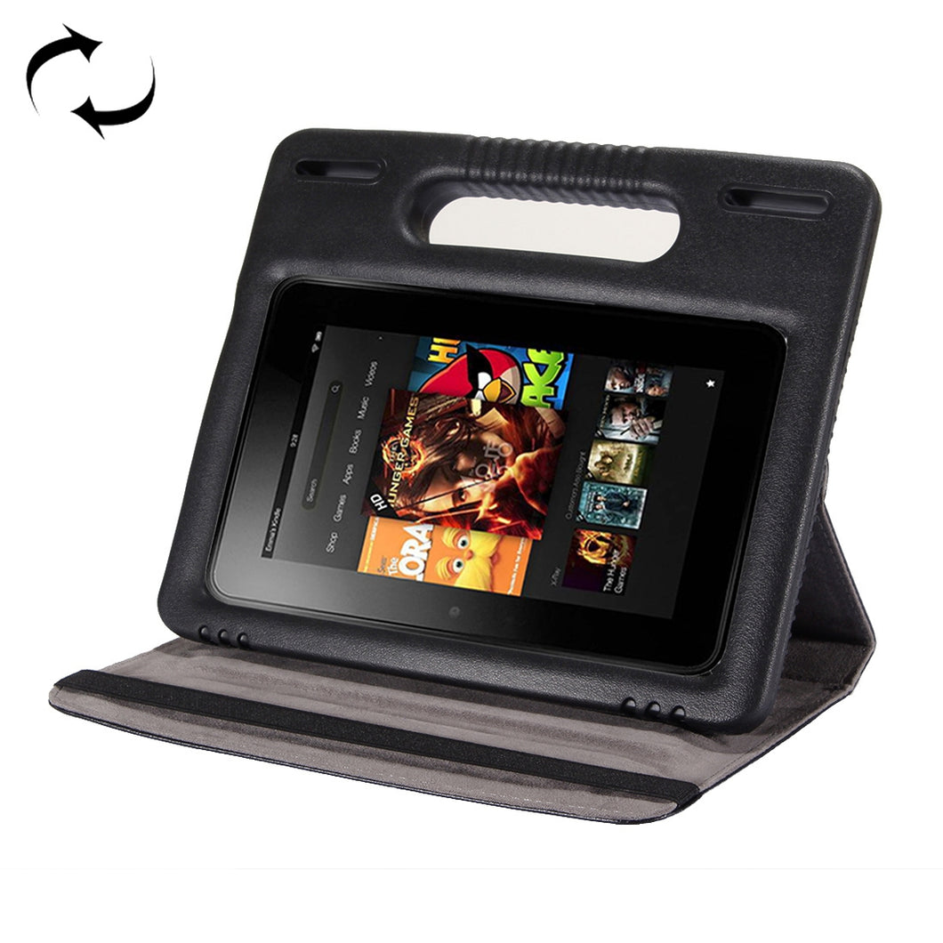 AMZER Flip Leather Case With Handle For Amazon Kindle Fire HD 8 2015 2017- Black - fommystore