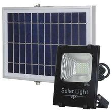 Load image into Gallery viewer, AMZER 50W Ultra-thin IP66 Waterproof Solar Powered Timing LED Flood Light, 42 LEDs SMD 2835 LED Lamp with 6V / 0.83A Solar Panel & Remote Control - White Light - fommystore