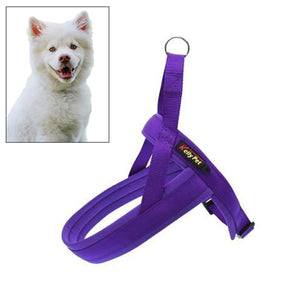 Pet Dogs Nylon Comfortable O-ring Chest Harness Lead Leash, Size:XS, Adjustable Range:42-50cm - fommystore