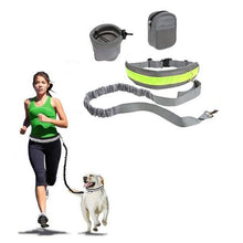 Load image into Gallery viewer, Retractable Pet 4 Pieces Set Dog Running Traction Waist Bag Dog Lead Non-Slip Pet Traction Rope, Rope Length: 144cm, Waist: 78-100cm - fommystore