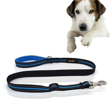 Load image into Gallery viewer, Pet Dogs Nylon Night Reflective Breathable Handheld Traction Lead Leash, Size: M, Adjustable Range : 2.5 x (100-140cm) - fommystore