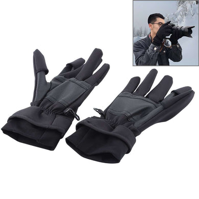 AMZER Outdoor Sports Wind-stopper Full Finger Winter Warm Photography Gloves