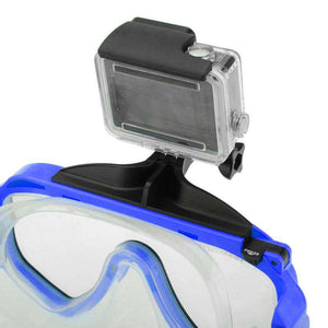 AMZER Water Sports Diving Equipment Diving Mask Swimming Glasses with Mount for GoPro NEW HERO /HERO6 /5 /5 Session /4 Session /4 /3+ /3 /2 /1, Xiaoyi and Other Action Cameras - Blue