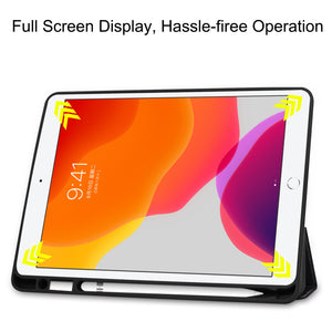 AMZER Colored Drawing Horizontal Flip Leather Case With 3-Fold Holder & Sleep/ Wake-up Function for Apple iPad 10.2 - Big Eye Me - fommystore