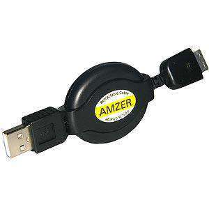 USB Retractable Data Sync and Charge Cable For Samsung Instinct s30 SPH-M810 - fommystore