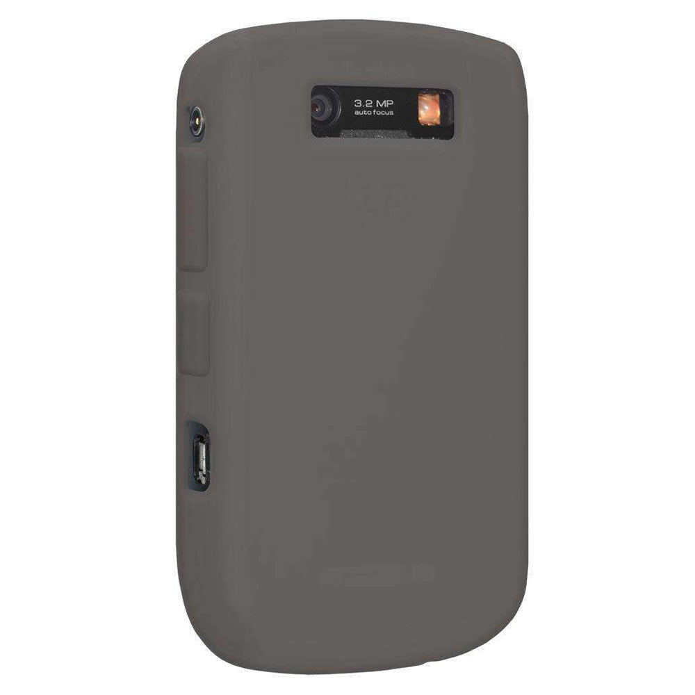 AMZER Silicone Skin Jelly Case for BlackBerry Curve 8900 - Smoke Grey - fommystore