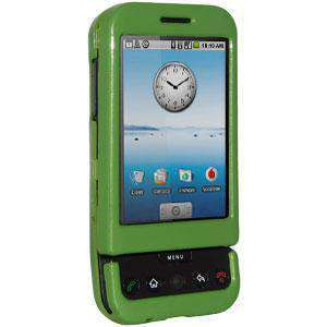 AMZER Polished Snap On Crystal Hard Case for HTC Dream - Frog Green - fommystore