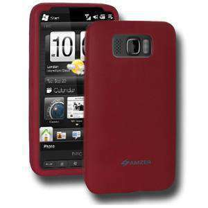 AMZER Silicone Skin Jelly Case for HTC HD2 - Maroon Red - fommystore