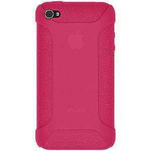 AMZER Shockproof Rugged Silicone Skin Jelly Case for iPhone 4 - Hot Pink - fommystore