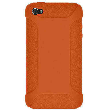AMZER Shockproof Rugged Silicone Skin Jelly Case for iPhone 4 - Orange - fommystore