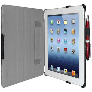 AMZER Shell Portfolio Case Carbon Fiber Texture for iPad 2 - Black - fommystore