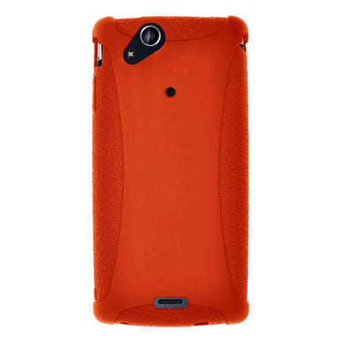 AMZER Silicone Skin Jelly Case for Sony Ericsson Xperia arc - Orange - fommystore