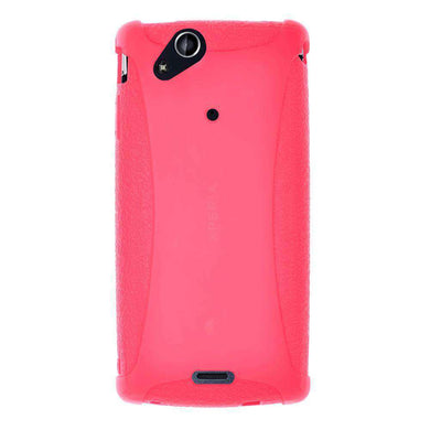 AMZER Silicone Skin Jelly Case for Sony Ericsson Xperia arc - Baby Pink - fommystore