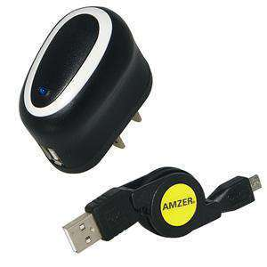 Amzer® USB Power Adapter Micro USB Cable Combo
