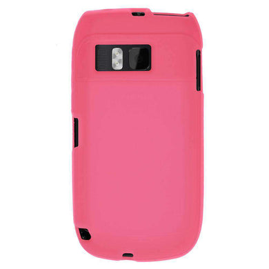 AMZER Silicone Skin Jelly Case for Nokia E6-00 - Baby Pink - fommystore